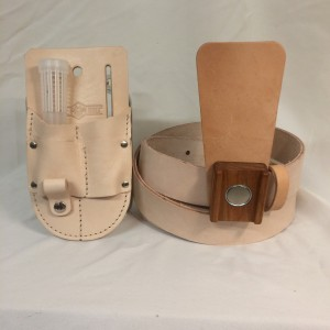 Belt with Magnetic Hive Tool Holder and Pouch